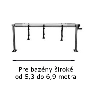 Naviják na solárnu plachtu nastaviteľná výška 5,3 – 6,9 m