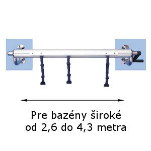 Naviják na solárnu plachtu pevný na stenu 2,6 – 4,1 m